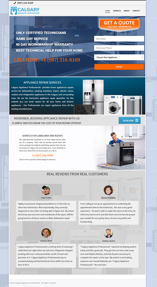 Calgary Appliance Professionals